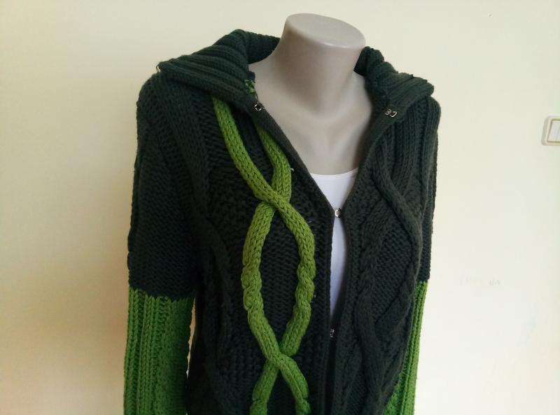 Итальянский брендовый свитер шерсть max mara - Фото 3