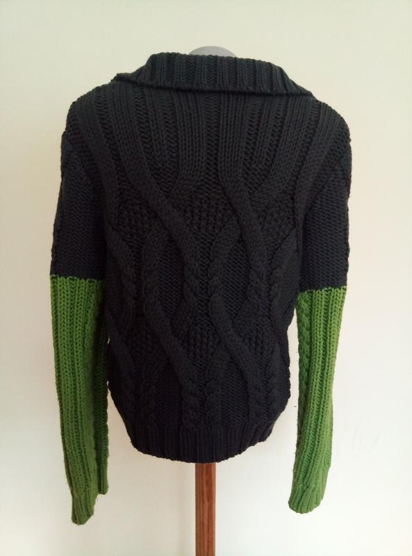 Итальянский брендовый свитер шерсть max mara - Фото 5