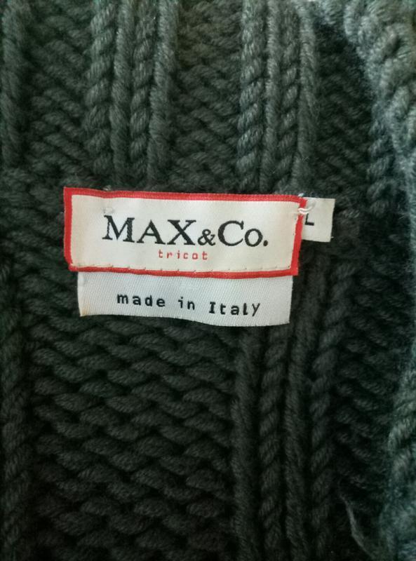 Итальянский брендовый свитер шерсть max mara - Фото 6