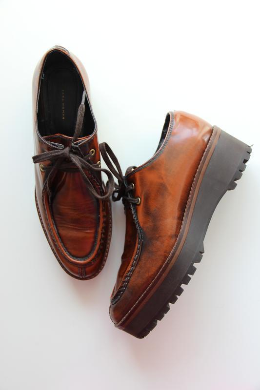 Кожаные туфли / дерби Zara