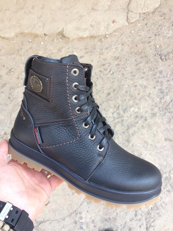 Подростковые кожаные зимние ботинки - Фото 2