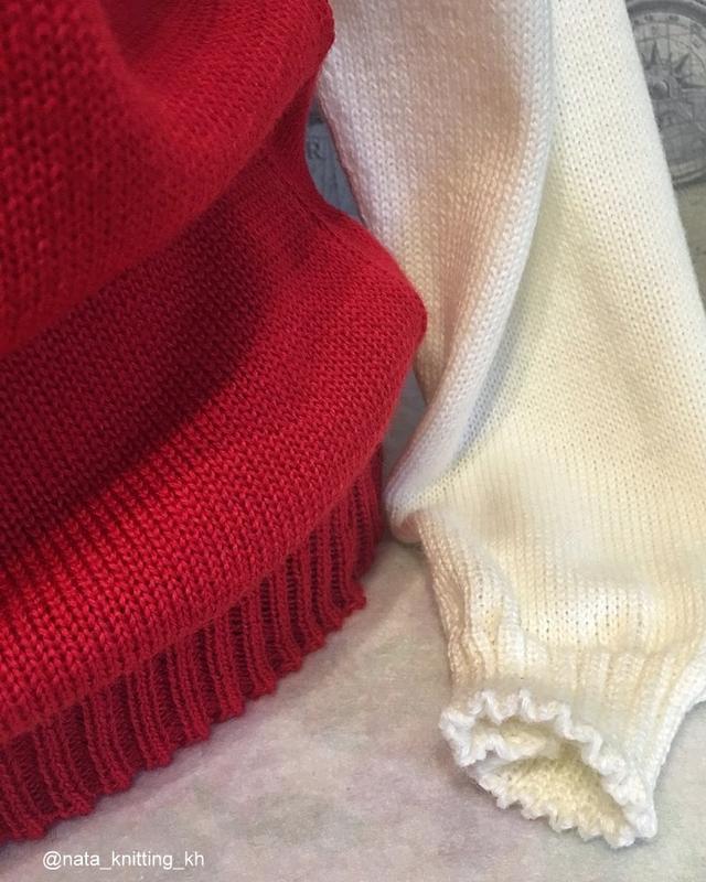 Жаккардовый свитер с высоким воротом - Фото 3