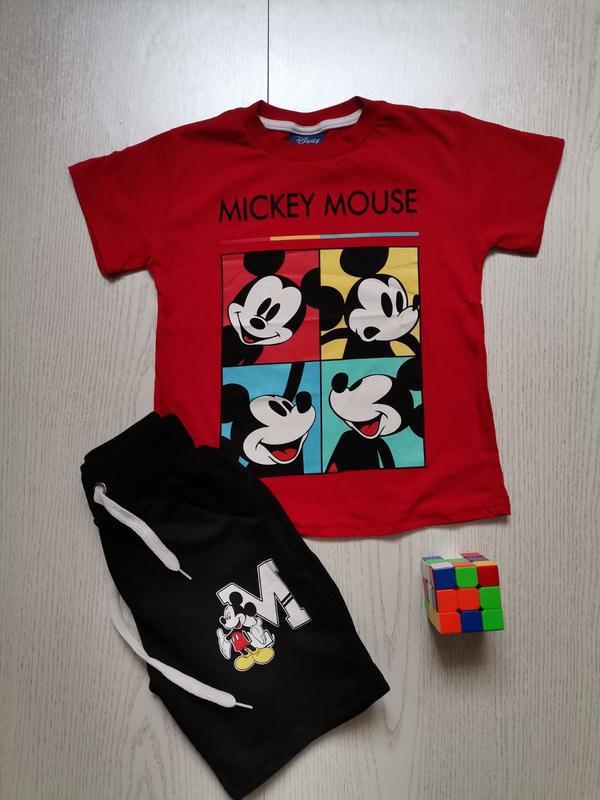 Детский летний костюм на мальчика микки, красного цвета, от 3 ...