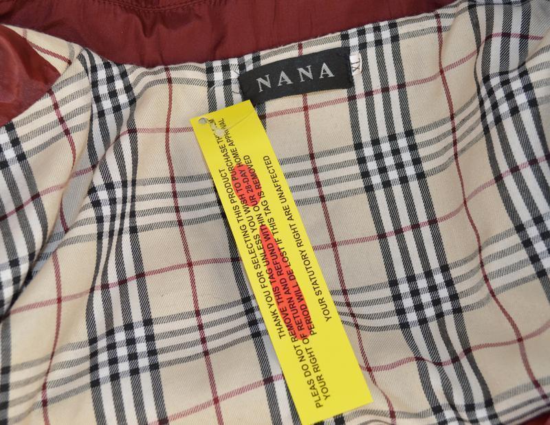 Брендовый бордовый плащ тренч с поясом и карманами nana большо... - Фото 4