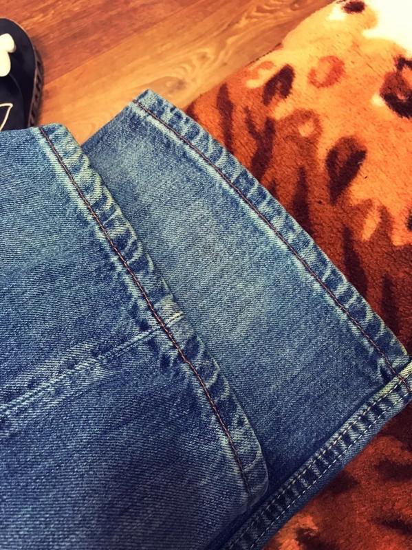 Брендовые джинсы с высокой посадкой бойфренд  мом на пышную кр... - Фото 7