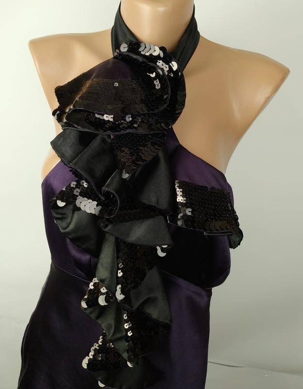 Блуза шелковая шикарная с паетками оригинал karen millen uk 8/... - Фото 4