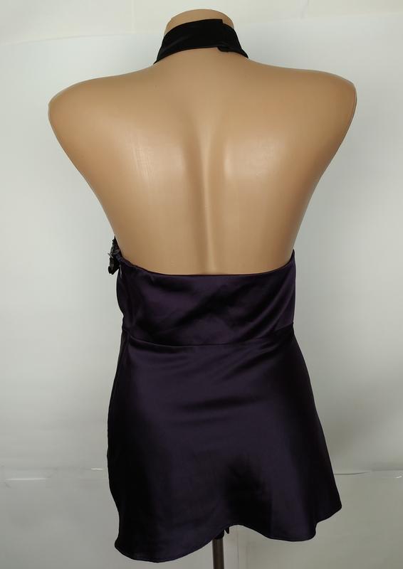 Блуза шелковая шикарная с паетками оригинал karen millen uk 8/... - Фото 5