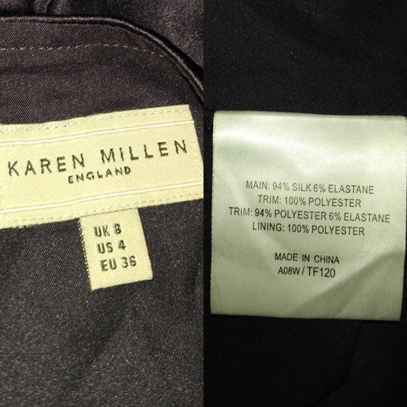 Блуза шелковая шикарная с паетками оригинал karen millen uk 8/... - Фото 6