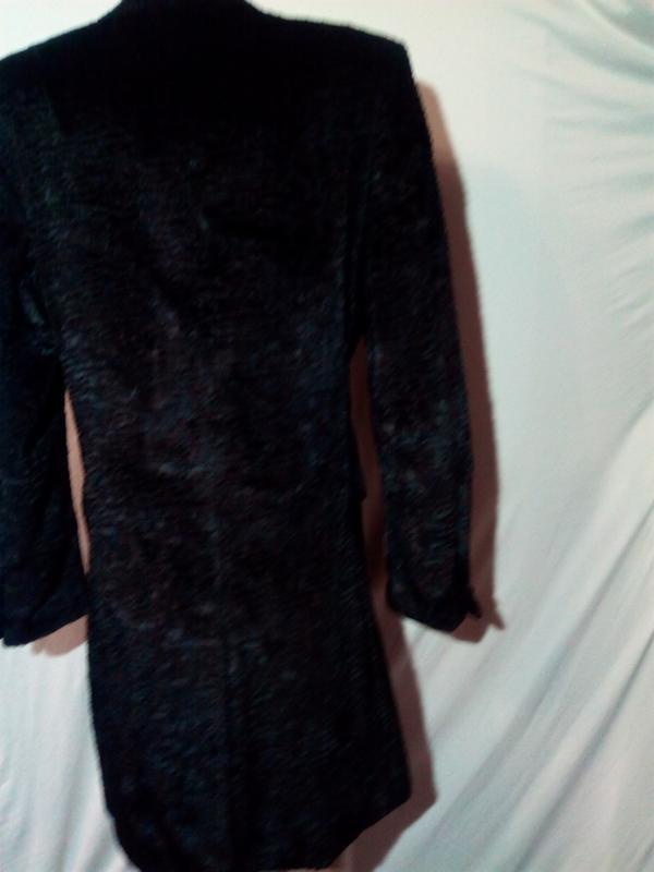 Черная шуба пальто из искусственного меха. - Фото 2
