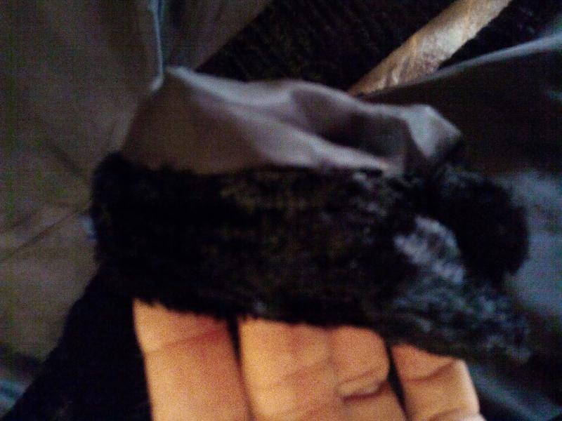 Черная шуба пальто из искусственного меха. - Фото 7