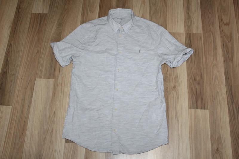 Сорочка мужская рубашка короткий рукав allsaints м
