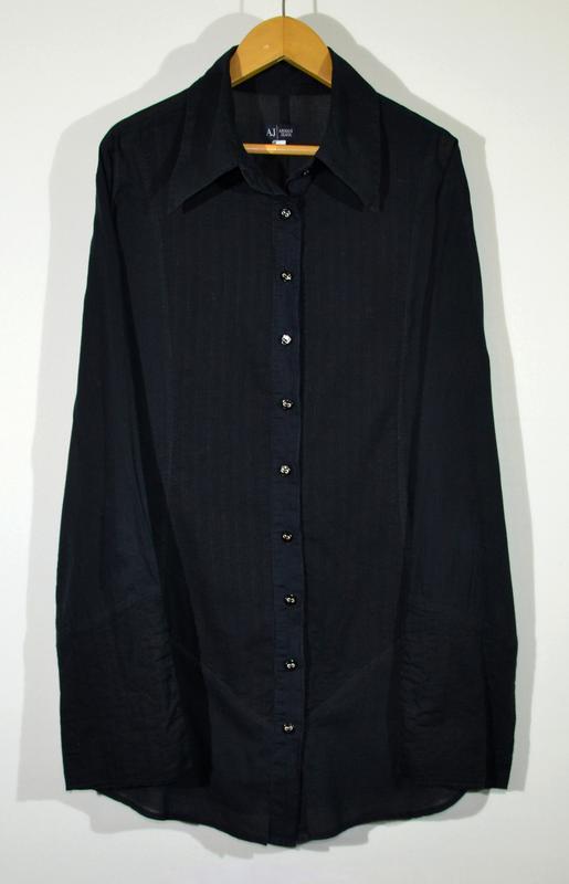 Льняная блуза armani jeans w`s linen shirt