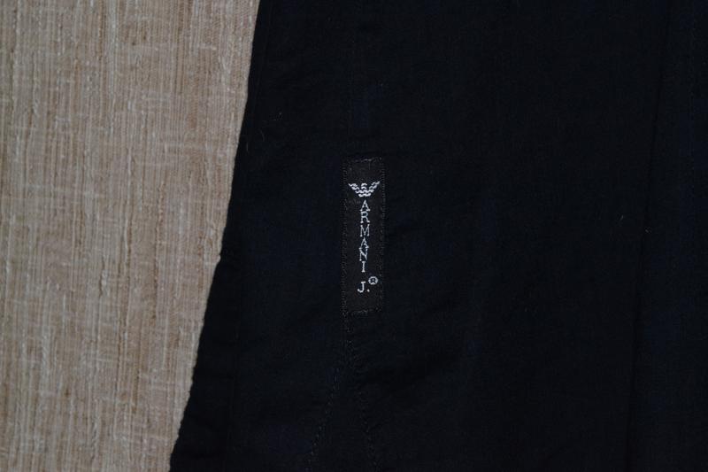 Льняная блуза armani jeans w`s linen shirt - Фото 2