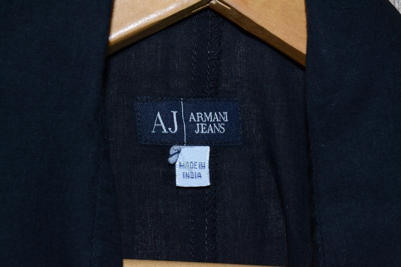 Льняная блуза armani jeans w`s linen shirt - Фото 3