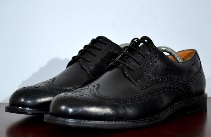 Туфли броги clarks plus bruges