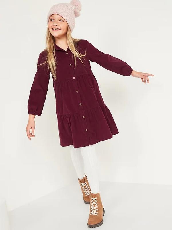 Вельветова сукня вільного крою олдневі для дівчинки
