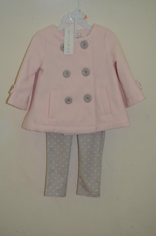 Пальто на девочку 1-2 года комплект пальто и лосины новые