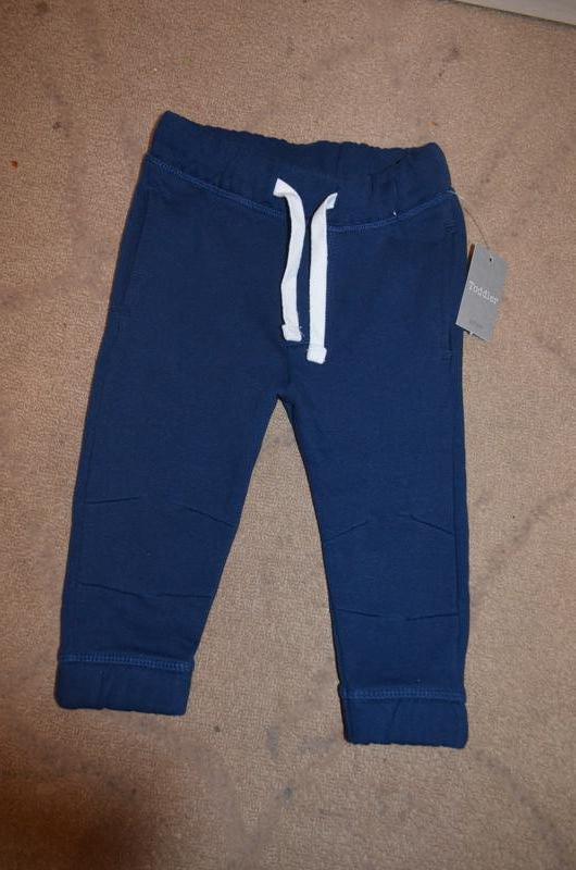 Теплые штанишки на мальчика 9-12 мес