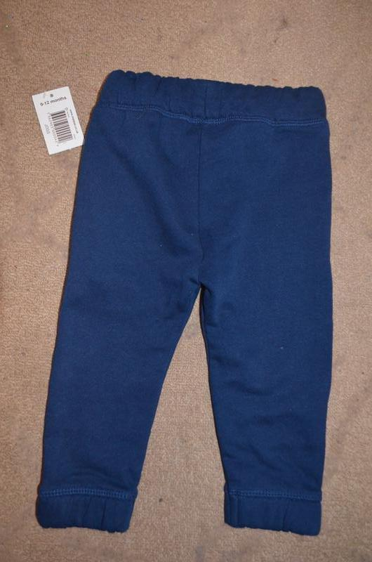 Теплые штанишки на мальчика 9-12 мес - Фото 2