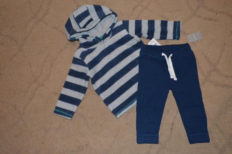 Теплые штанишки на мальчика 9-12 мес - Фото 5