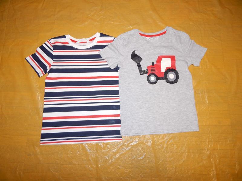 Набор 2 шт! р. 122-128 , футболка хлопок h&m, швеция