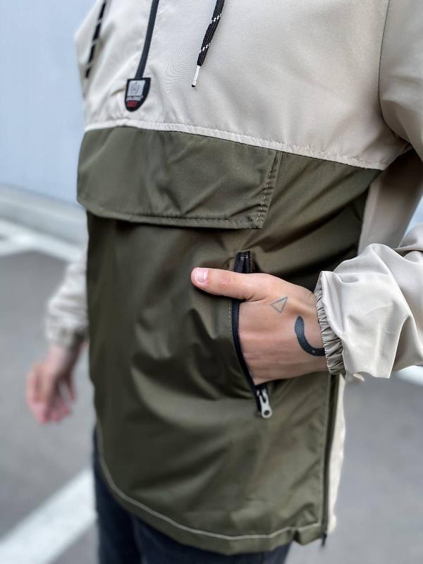 Стильный анорак мужская одежда осень весна лето - Фото 2