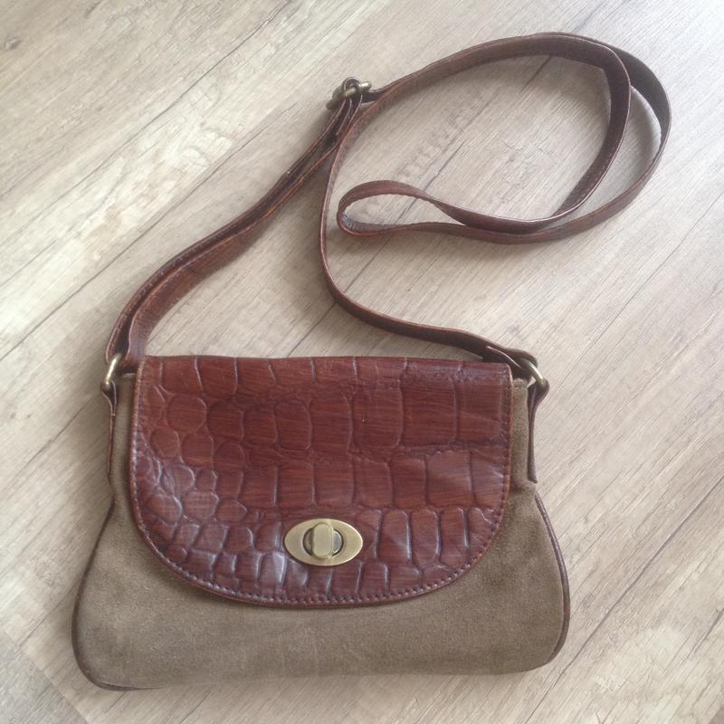 Крутая замшевая сумка кросбоди сумочка