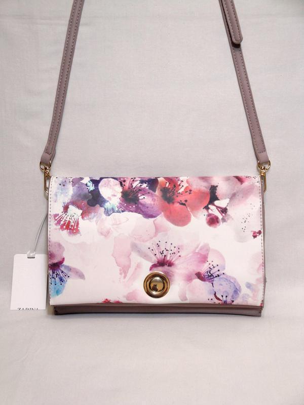 Новая стильная сумка кроссбоди через плечо от бренда zarina