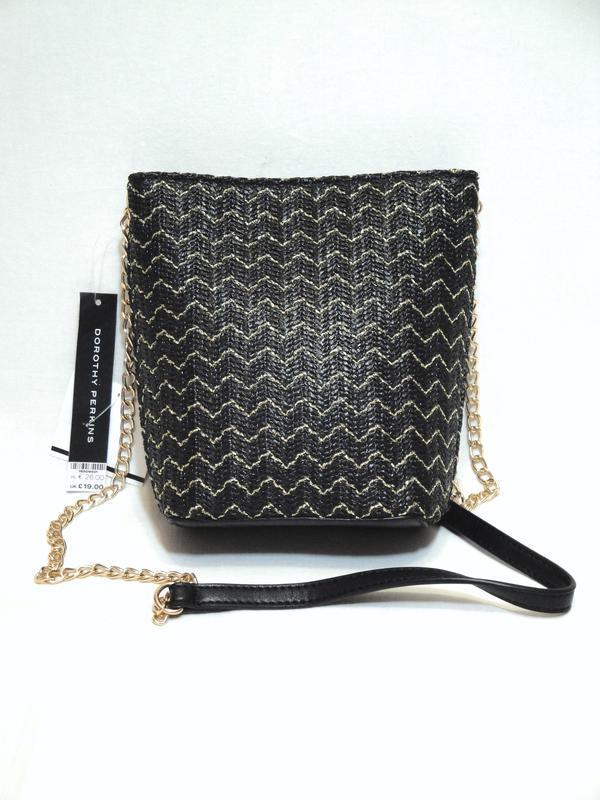 Dorothy perkins новая женская плетеная сумка ведерко кросс бод...