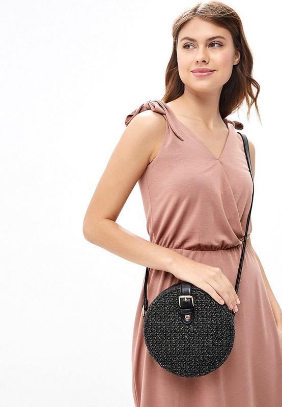 Dorothy perkins новая круглая плетеная женская сумка кросс бод...