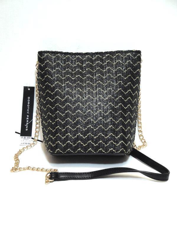 Новая стильная трендовая плетеная сумка ведерко кроссбоди чере...