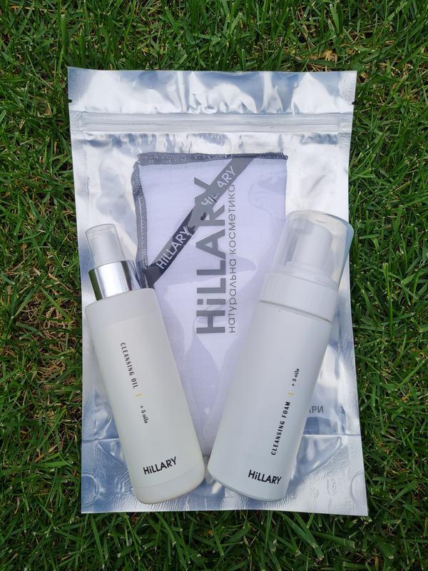 Набор для 2-этапного очищения нормальной кожи hillary +муслино...