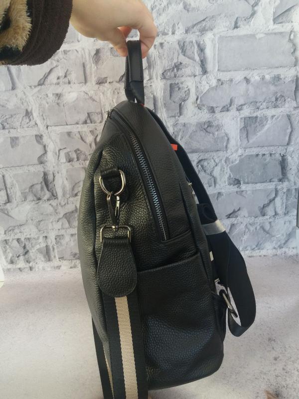 Женский кожаный рюкзак жіночий шкіряний портфель сумка кожаная - Фото 3