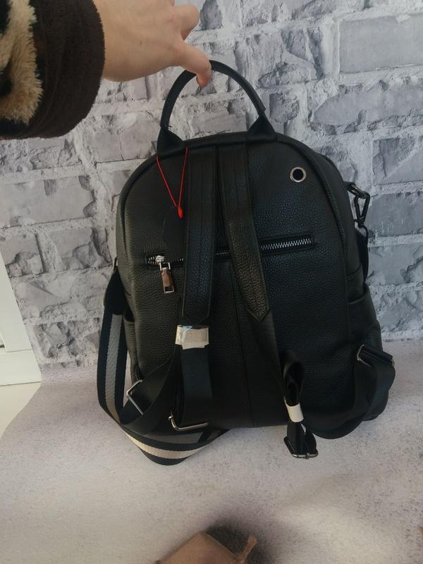Женский кожаный рюкзак жіночий шкіряний портфель сумка кожаная - Фото 4