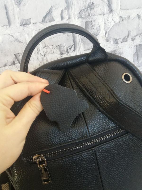 Женский кожаный рюкзак жіночий шкіряний портфель сумка кожаная - Фото 5