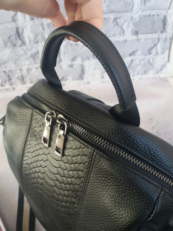 Женский кожаный рюкзак жіночий шкіряний портфель сумка кожаная - Фото 6