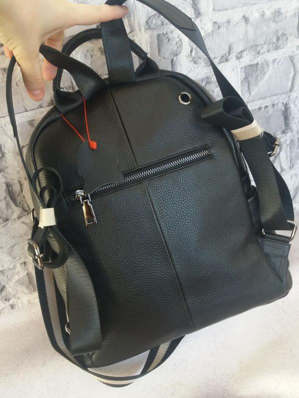 Женский кожаный рюкзак жіночий шкіряний портфель сумка кожаная - Фото 7