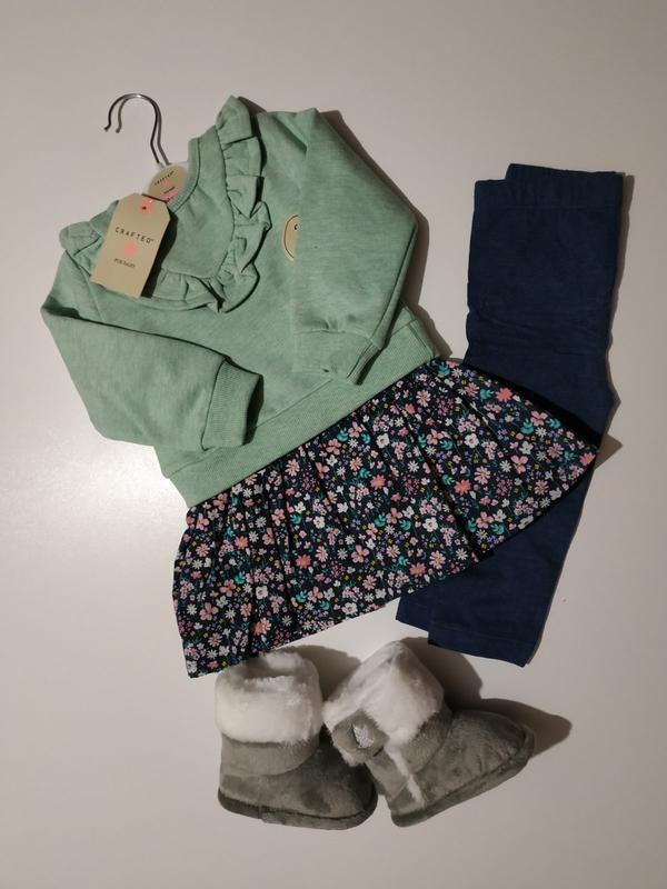 Дитячий набір crafted комплект сукня світер лосини набір оригінал