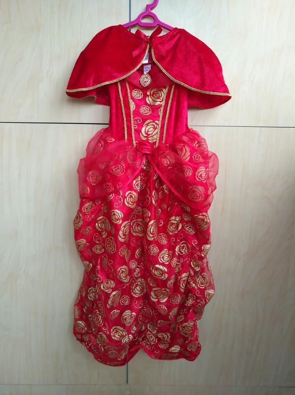 Карнавальное платье принцессы белль disney на 5-6 лет
