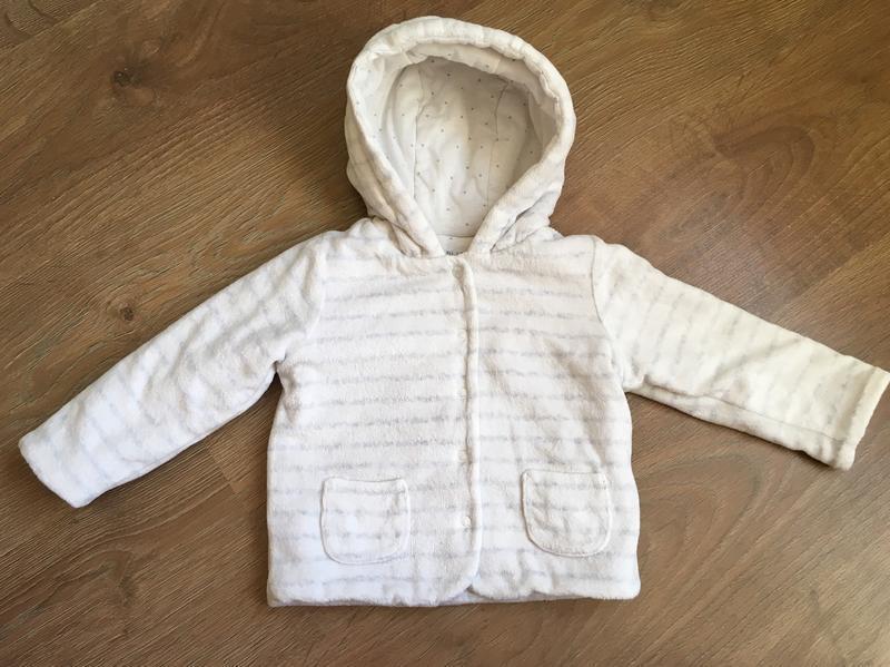 Белая теплая кофта f&f на 9-12 месяцев