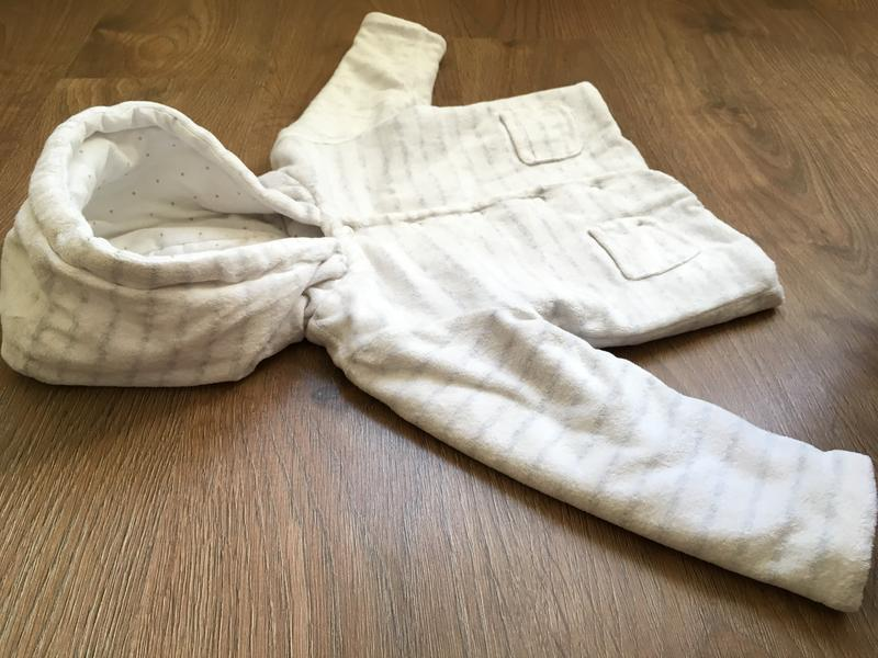 Белая теплая кофта f&f на 9-12 месяцев - Фото 4