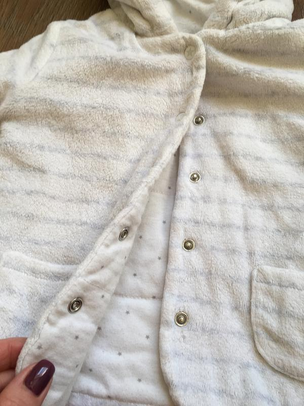 Белая теплая кофта f&f на 9-12 месяцев - Фото 5