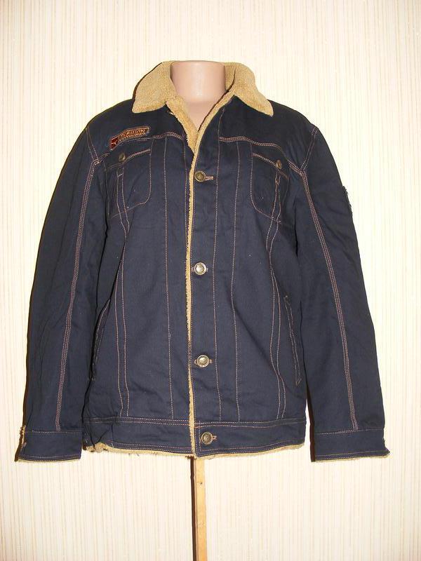 Куртка мужская весна-осень на меху на рос 175, вес 75-80 кг