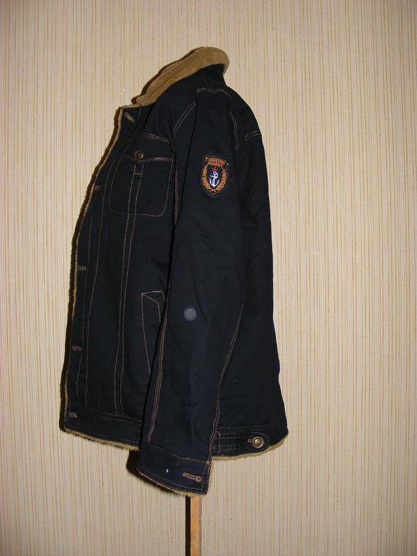 Куртка мужская весна-осень на меху на рос 175, вес 75-80 кг - Фото 4