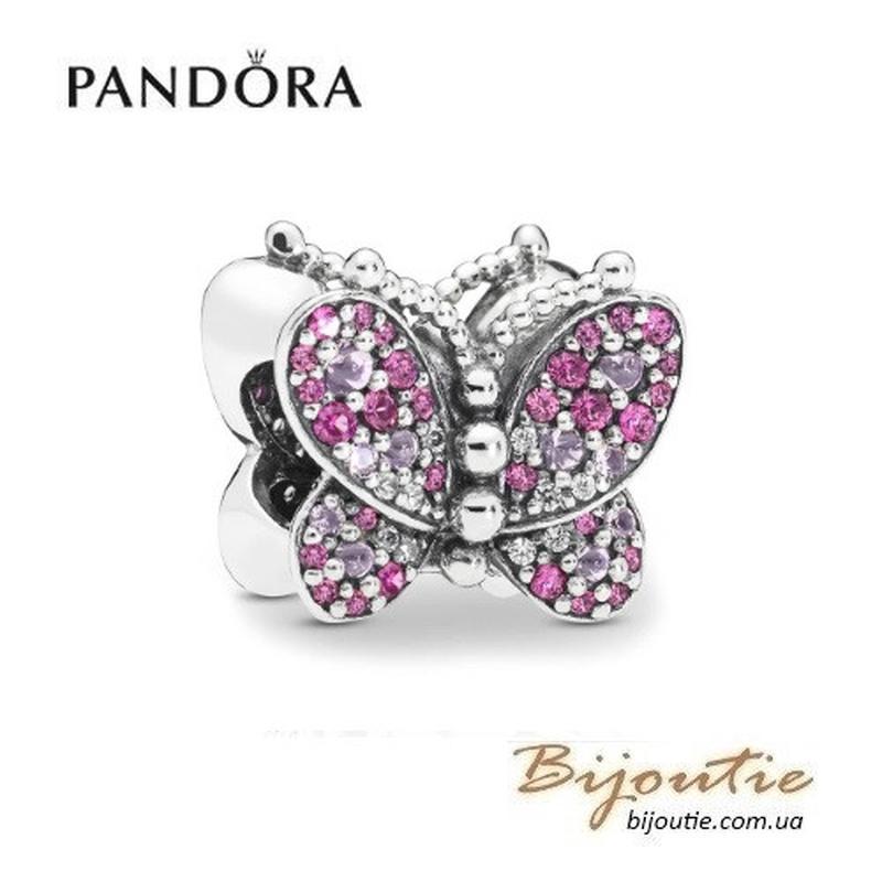Шарм PANDORA ― Сияющая розовая бабочка 797882NCCMX