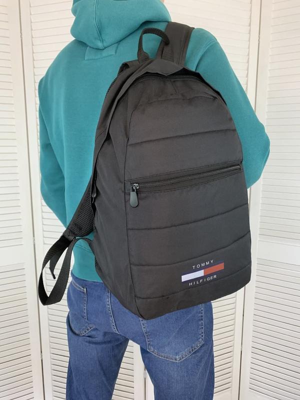 Рюкзак tommy hilfiger черный портфель мужской / женский