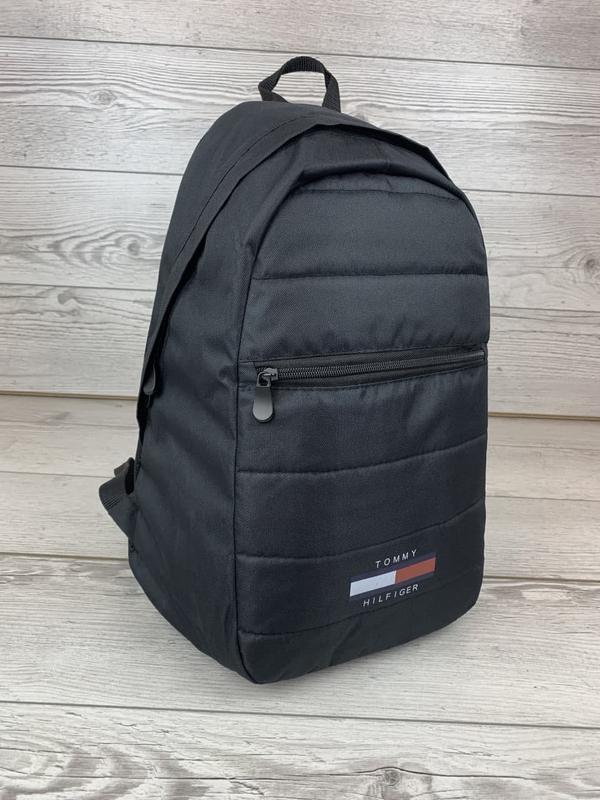 Рюкзак tommy hilfiger черный портфель мужской / женский - Фото 2