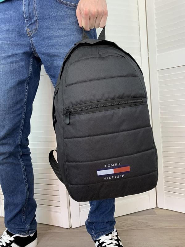 Рюкзак tommy hilfiger черный портфель мужской / женский - Фото 3