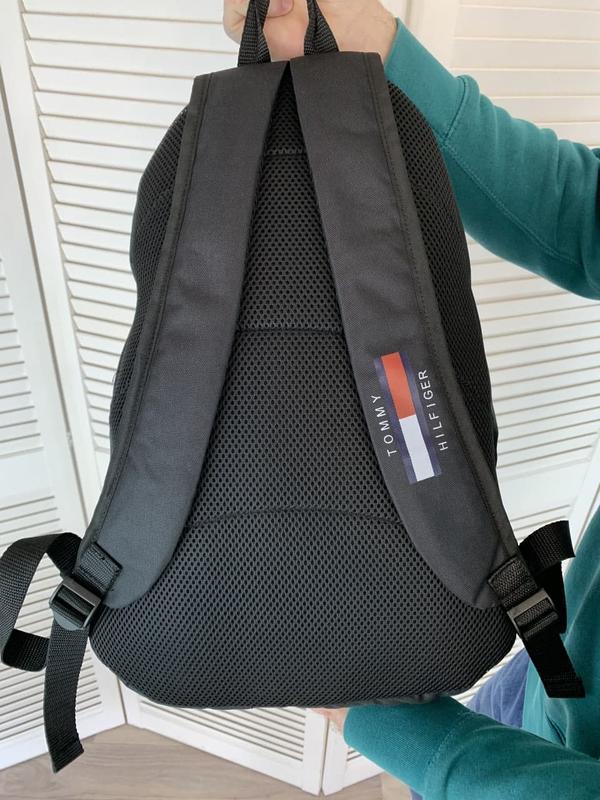 Рюкзак tommy hilfiger черный портфель мужской / женский - Фото 4
