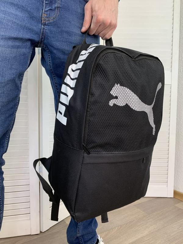 Рюкзак puma черный портфель мужской / женский - Фото 3
